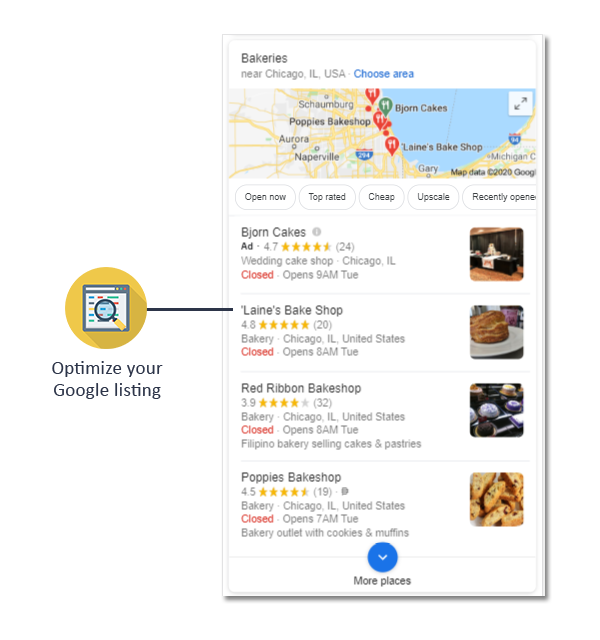 we optimize your google listing