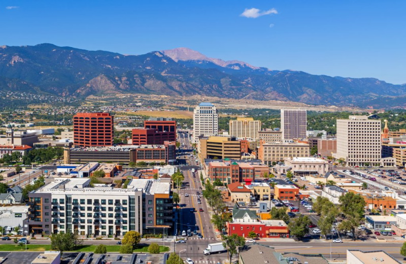 Colorado Springs SEO company office view downtown